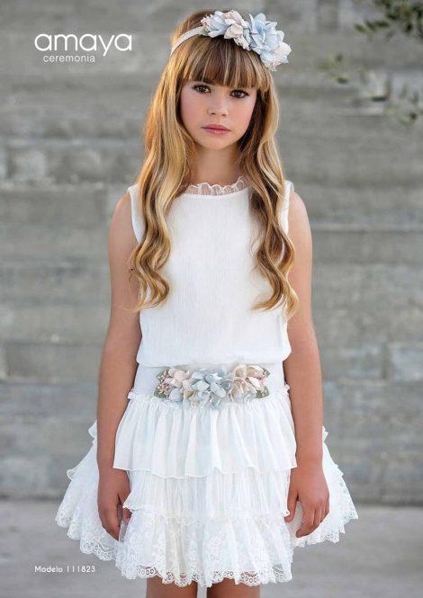 vestido amaya comunhao vestidocurto mariadavid meninadasaliancas