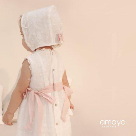 vestido batizado amaya mariadavid linho