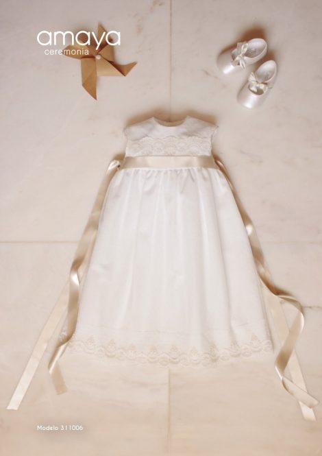 vestido batizado amaya mariadavid tule renda